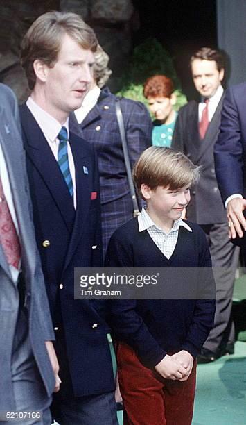 Prince William During His Visit To Canada In 1991 With His Police Bodyguard