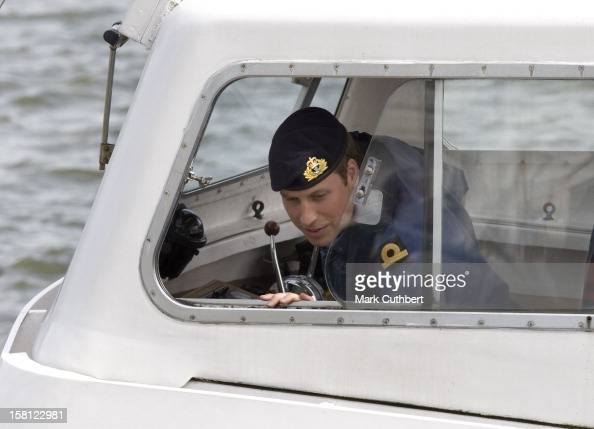 Prince William During Training With The Royal Navy At Britannia Royal Naval College In Dartmouth England The Prince Is Spending The Next Two Months...