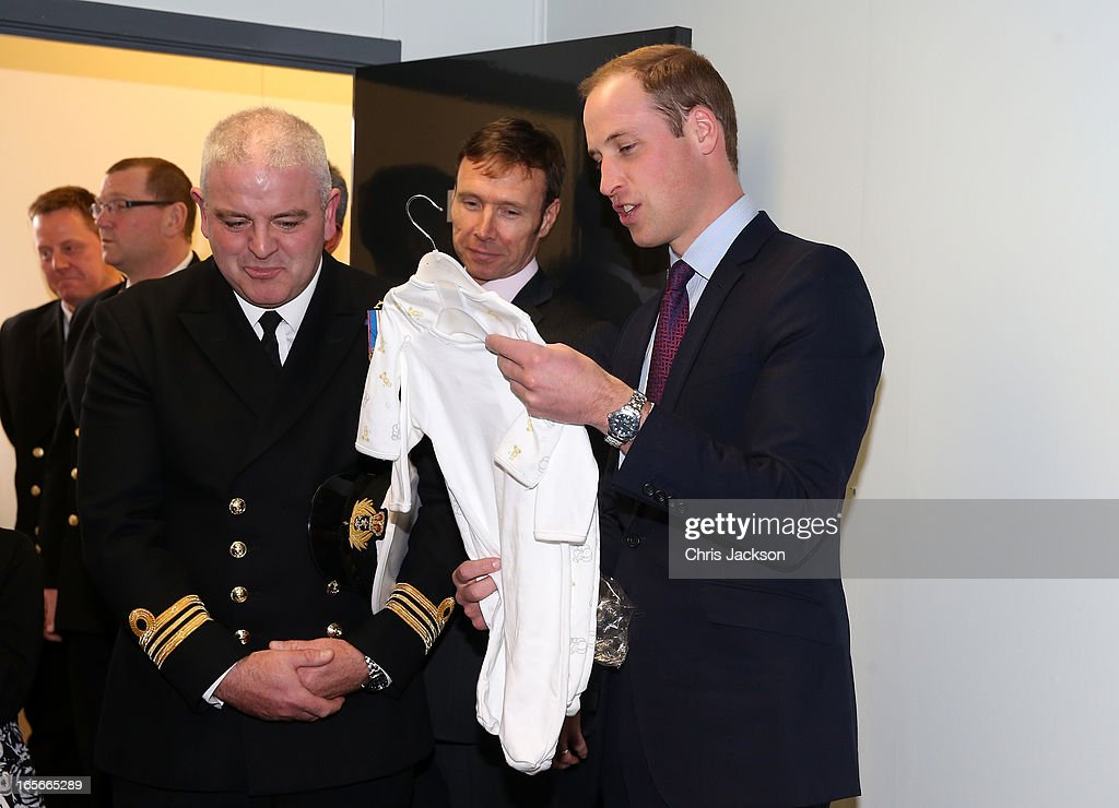 Prince William, Earl of Strahearn meets the crew and their families during a visit the Astute-class Submarine Building at BAE Systems on April 5, 2013 in Barrow-in-Furness, United Kingdom. The Duke of Cambridge is Commodore-in-Chief of the Royal Navy Submarine Service and during their visit they will tour the offices of Vanguard replacement programme and meet with the crew of Artful and their families, who are now based in Barrow.