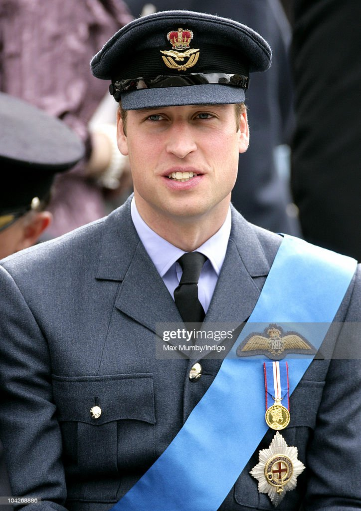 Prince William, Flight Lieutenant Wales watches the parade and flypast as he attends the Battle of Britain 70th Anniversary Service at Westminster Abbey on September 19, 2010 in London, England.