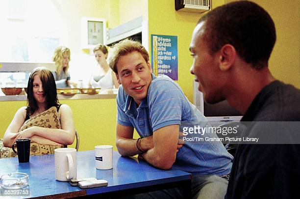 Prince William follows in his mother's footsteps as he speaks to young people during a volunteer visit to homeless charity Centrepoint of which the...