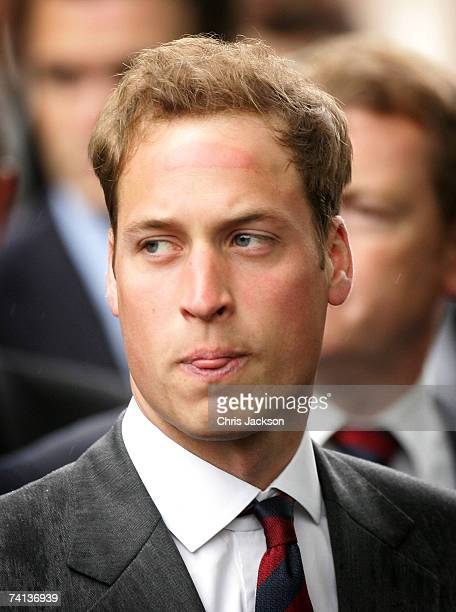 Prince William gestures during parade at the Cavalry Old Comrades Association Annual Parade in Hyde Park on May 13 2007 in London England This is the...