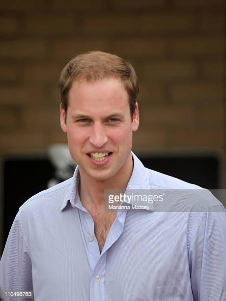 Prince William greets locals in Kerang during his visit to the Memorial Hall on March 21 2011 in Kerang Australia His Royal Highness is in Victoria...