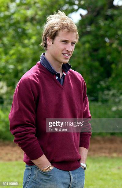 Prince William In Casual Outfit Of Baggy Jumper And Shirt With Upturned Collar Visiting Duchy Home Farm Newspapers Have Speculated That He Might Take...