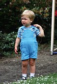 Prince William in the garden at Kensington Palace