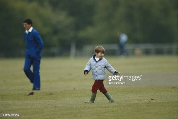 Prince William in the grounds of Windsor Castle where he was attending a polo match in Windsor Berkshire England Great Britain 17 May 1987