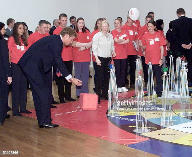 Prince William Joining In A Dice Game At The Lighthouse A Prince's Trust Project In Glasgow Scotland