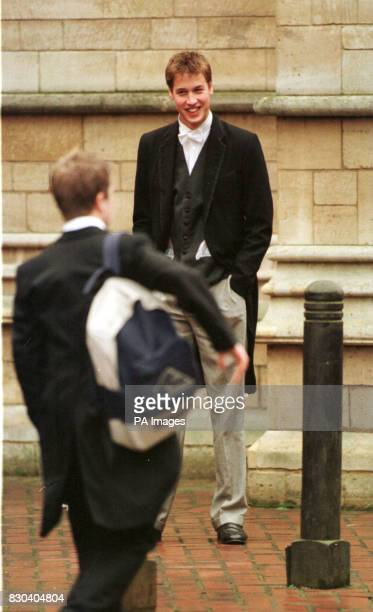 Prince William leaving Chapel Senior boys attend Chapel at least three times a week The service is 10 minutes long and incudes a hymn a prayer and an...