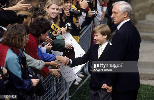 Prince William meets wellwishers during his first visit to Canada on October 27 1991 in Toronto Canada
