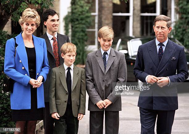 Prince William Meets With His New Housemaster Dr Andrew Gailey At Eton College Accompanied By Prince CharlesDiana Princess Of Wales And Prince Harry