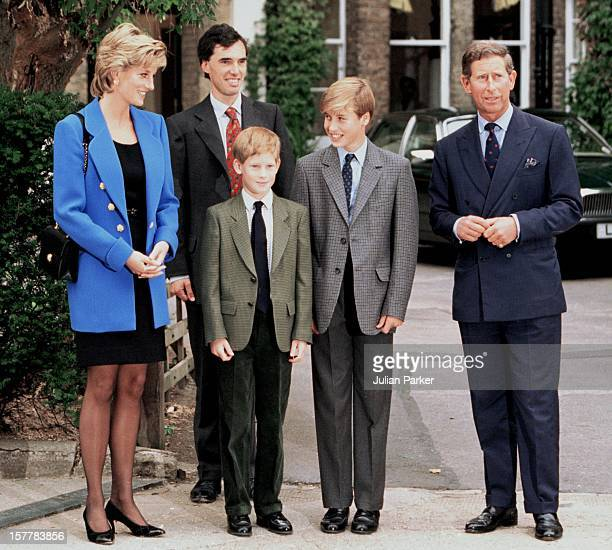 Prince William Meets With His New Housemaster Dr Andrew Gailey At Eton College Accompanied By Prince Charles Diana Princess Of Wales And Prince Harry