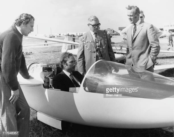 Prince William of Gloucester in the cockpit of an aircraft during the European gliding competition at Dunstable Downs Bedfordshire 19th August 1972...
