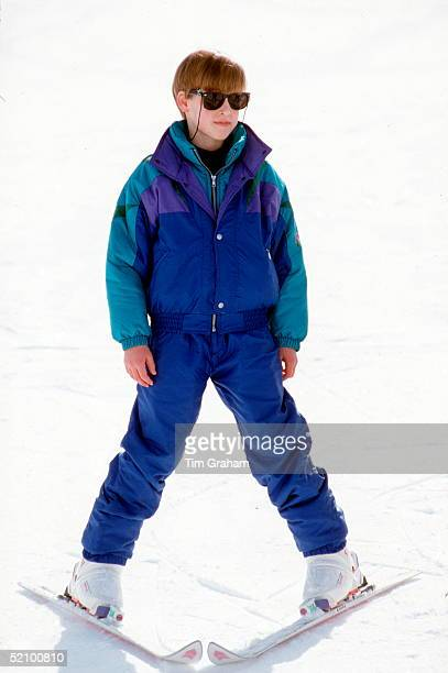 Prince William On A Skiing Holiday In Klosters Switzerland