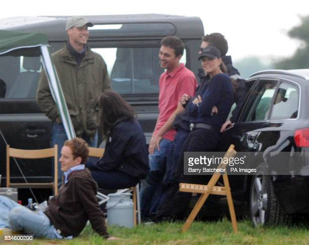 Prince William on his birthday with girlfriend Kate Middleton watch the William De Broe Polo Test Match featuring England v New Zealand at the...