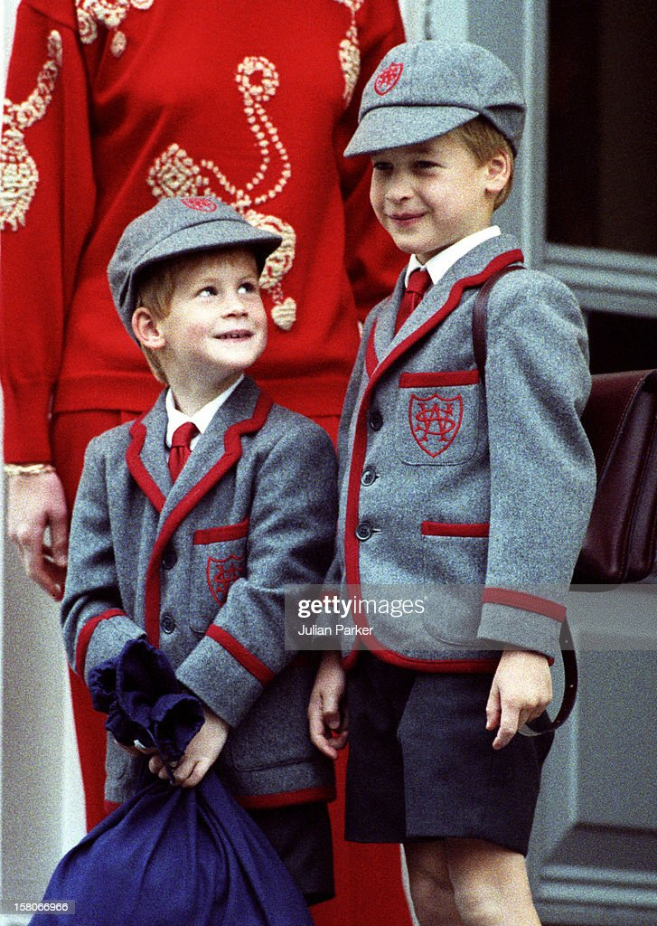 Prince William, On His Brother'S Prince Harry First Day At Wetherby School, In London.