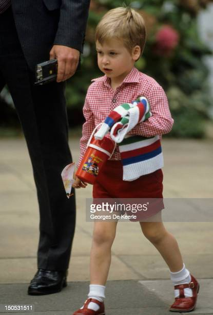 Prince William on his first day at nursery school on September 24 1985