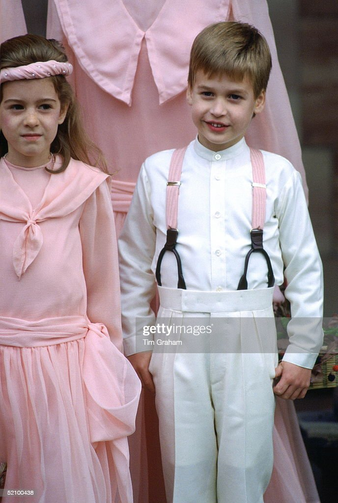 Back in 1988, Prince William was a pageboy for Camilla Dunne and Rupert Soames. Photo: Tim Graham