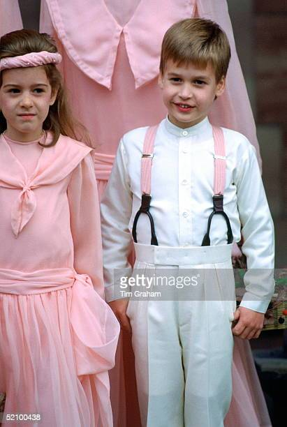Prince William Pageboy At The Society Wedding Of Miss Camilla Dunne To The Honourable Rupert Soames At Hereford Cathedral