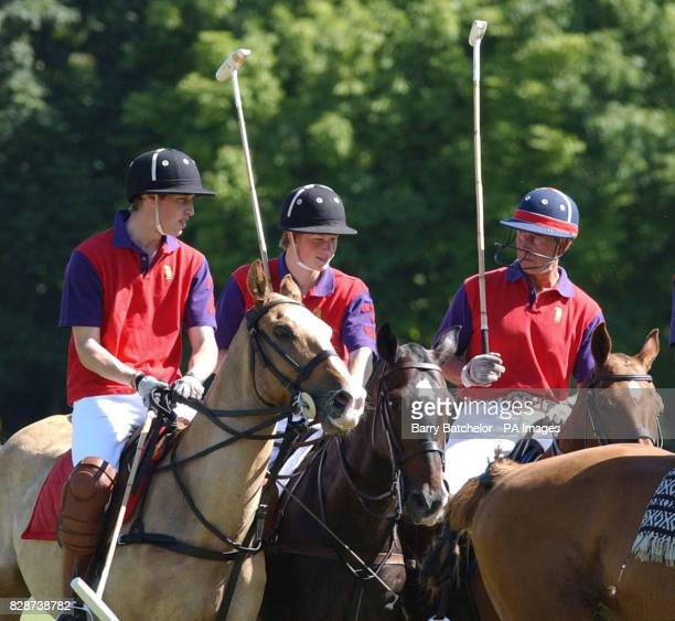Prince William Prince Harry and the Prince of Wales before playing for BFF/Highgrove against CSPA in the Indian Cavalry Polo Trophy at Tidworth Polo...