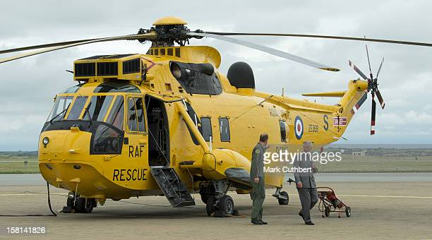 Prince William Shows Prince Charles The Sea King Helicopter He Flies During His Search And Rescue Missions From Raf Valley On Anglesey Wales
