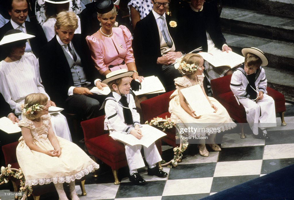 He had melted hearts at the age of four when he served as pageboy for his uncle Andrew, Duke of York when he married Sarah Ferguson in 1986. Photo: Anwar Hussein