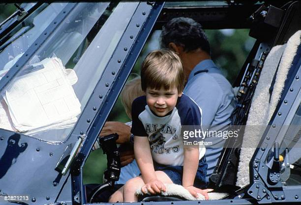 Prince William Steps Out Of The Royal Flight Helicopter At Highgrove House on July 18 1986 in Tetbury England It has been announced today that Prince...