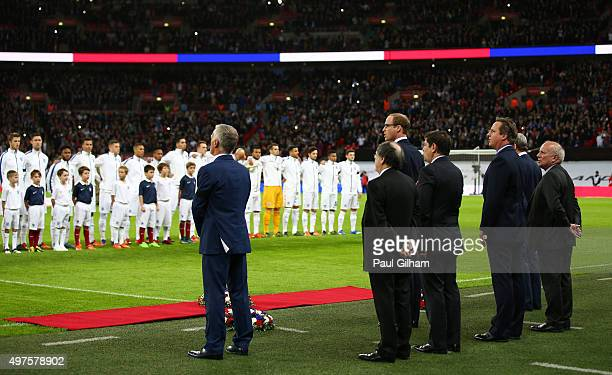 Prince William The Duke of Cambridge and the Football Association Chairman Greg Dyke British Prime Minister David Cameron and Didier Deschamps Head...