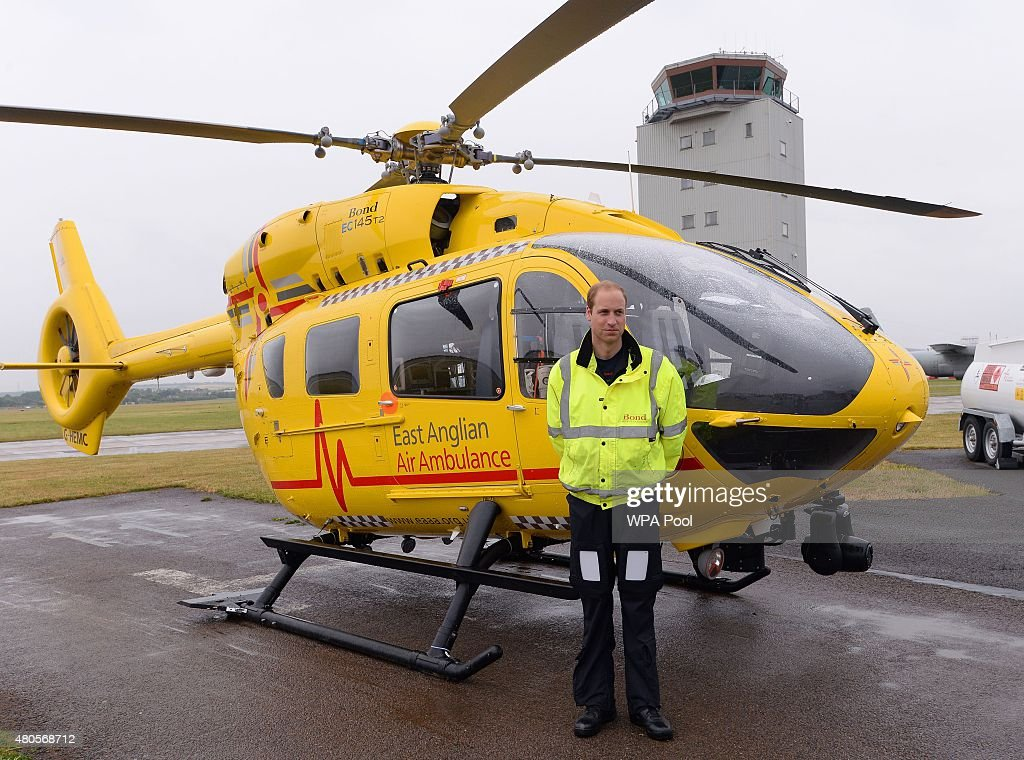 Duke Of Cambridge Begins First Shift As Air Ambulance Pilot  Getty Images