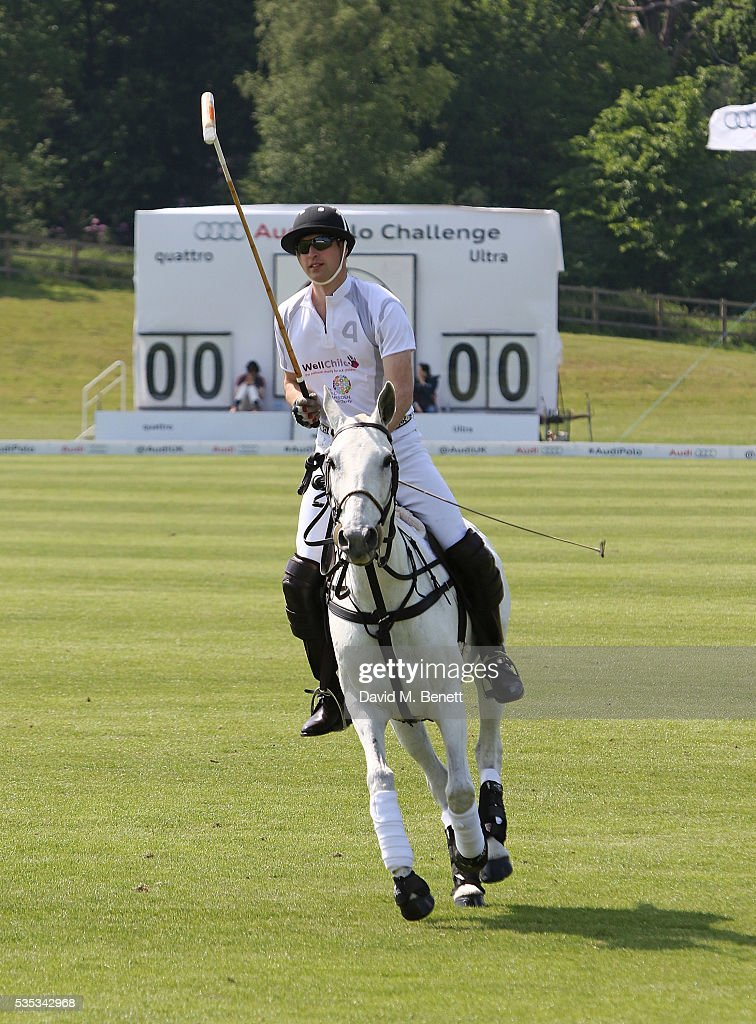 <a gi-track='captionPersonalityLinkClicked' href=/galleries/search?phrase=Prince+William&family=editorial&specificpeople=178205 ng-click='$event.stopPropagation()'>Prince William</a>, the Duke of Cambridge attends day two of the Audi Polo Challenge at Coworth Park on May 29, 2016 in London, England.