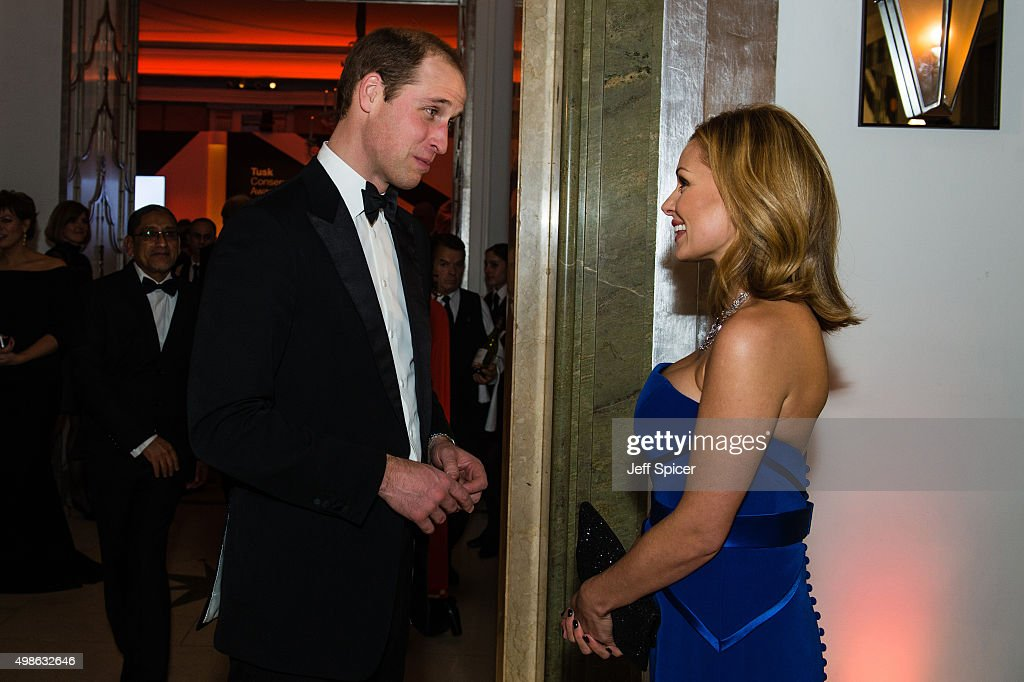Prince William; The Duke of Cambridge; Katherine Jenkins attend the annual Tusk Trust Conservation awards at Claridge's Hotel on November 24, 2015 in London, England.