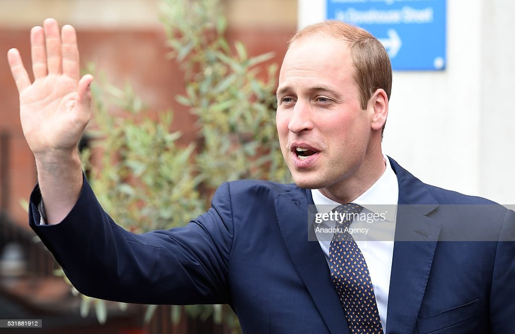 ... Prince William The Duke of Cambridge leaves after attending the official opening of the newly established ...