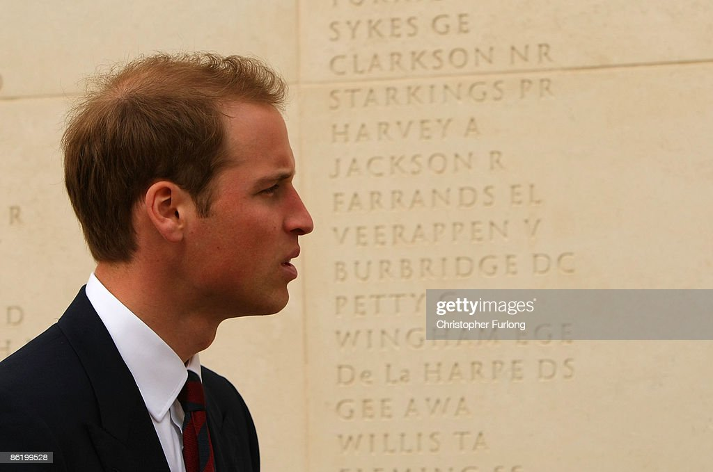 Prince William tours the National Memorial Arboretum as he launches an GBP 8 million appeal to make the Alrewas site a world famous centre for remembrance on April 24, 2009 in Lichfield, England. Prince William was officially made the patron of the Future Foundations Appeal. During the poignant visit he viewed the names of his Sandurst platoon commander Major Alexis Roberts of the 1st Battalion The Royal Gurkha Rifles, killed in Afgahanistan and Intelligence Officer Joanna Dyer who trained in his platoon and killed near Basra.