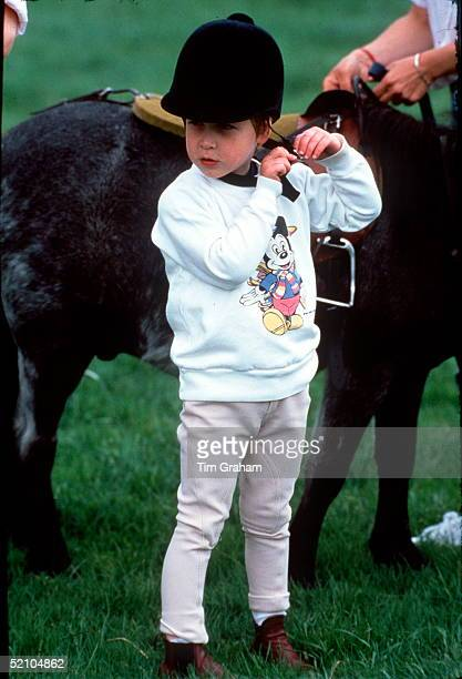 Prince William Wearing A Riding Cap To Ride His Pony Smokey At His Home Highgrove In Gloucestershire