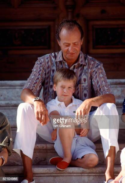 Prince William With King Juan Carlos Of Spain At The King's Holiday Home The Marivent Palace Which Is Situated Just Outside The Capital City Of Palma...