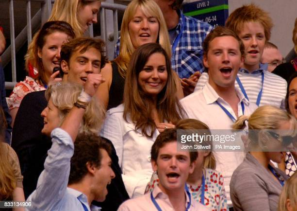 Prince William's exgirlfriend Kate Middleton in the crowd during the charity concert in memory of Diana Princess of Wales on what would have been her...