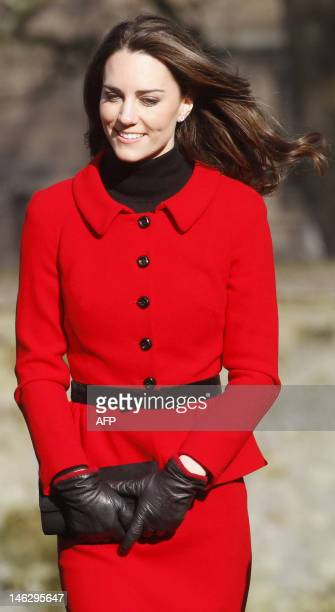 Prince William's fiancee Kate Middleton walks during a visit to the University of St Andrews in Scotland on February 25 2011 During the visit they...