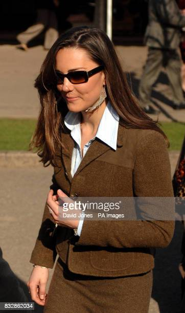 Prince William's Girlfriend Kate Middleton arrives for the first day of the Cheltenham Festival at Cheltenham racecourse