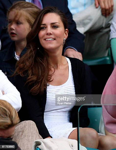 Prince William's girlfriend Kate Middleton attends day six of the Wimbledon Lawn Tennis Championships at the All England Lawn Tennis and Croquet Club...