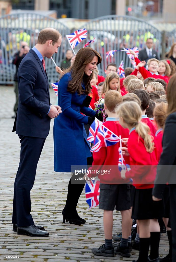 Prince William,The Duke of Cambridge, and Catherine, Duchess of Cambridge visit Captain Scotts tall ship 'The Discovery ' during at day of engagements in the City, of Dundee, on October 23, 2015 in Dundee, Scotland.