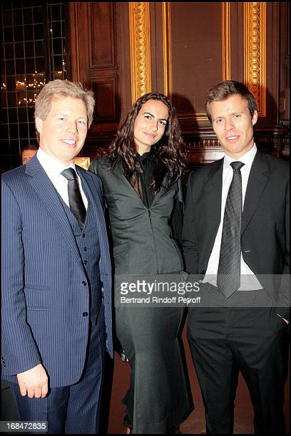Princes Alexandre with Wenceslas De Liechtenstein and the model Irina at Pascal Renouard De Valliere Appointed Member Of De Chevalier De L'Orde...