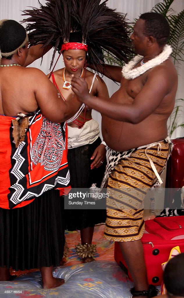 Princes Fikiswa Dlamini ahead of her traditional wedding to Khukubuse Zuma on September 14 2014 in Nkandla South Africa President Jacob Zuma was...