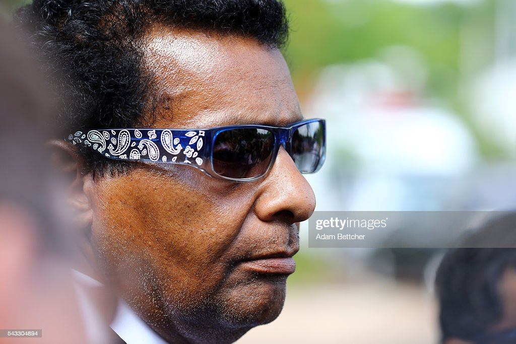Prince's half-brother Alfred Jackson listens to his attorney speak to the media outside of the Carver County Courthouse on June 27, 2016 in Chaska, Minnesota. Prince died on April 21, 2016 at his Paisley Park compound at the age of 57.