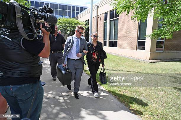 Prince's halfsister Sharon Nelson made her way into the Carver County Justice Center on June 27 2016 in Chaska Minnesota Prince died on April 21 2016...