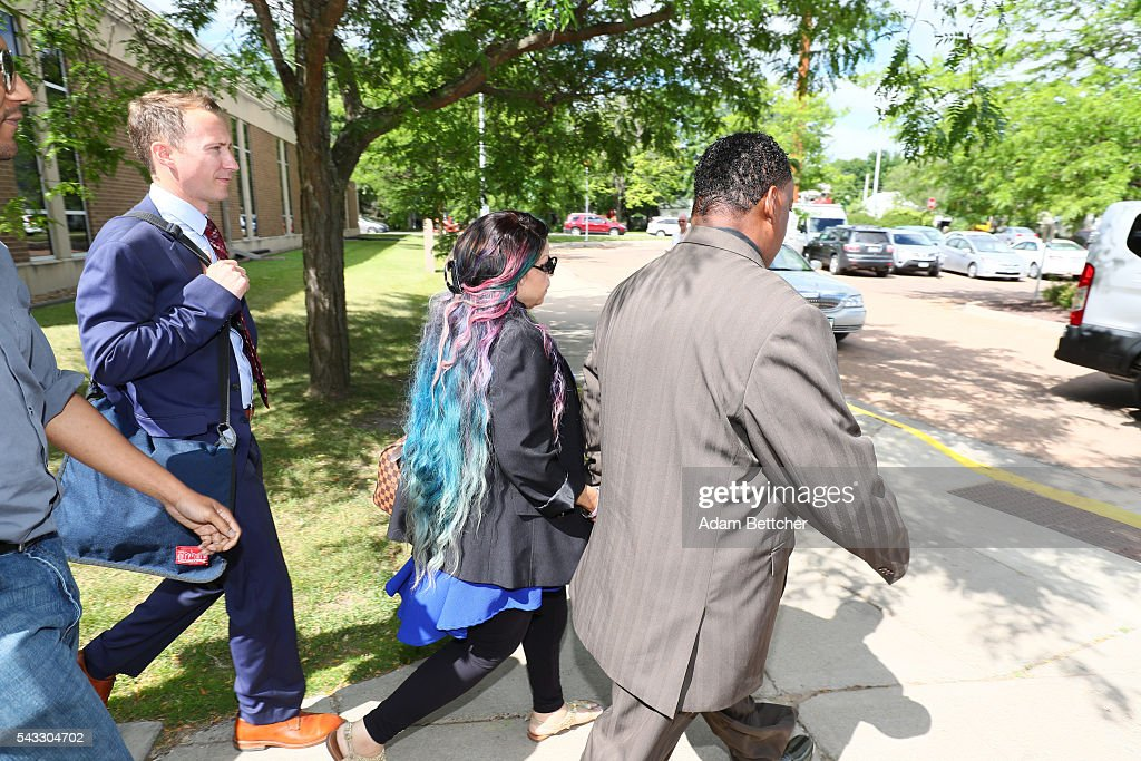 Prince's sister <a gi-track='captionPersonalityLinkClicked' href=/galleries/search?phrase=Tyka+Nelson&family=editorial&specificpeople=6472497 ng-click='$event.stopPropagation()'>Tyka Nelson</a> makes her way out of the Carver County Justice Center on June 27, 2016 in Chaska, Minnesota. Prince died on April 21, 2016 at his Paisley Park compound at the age of 57.