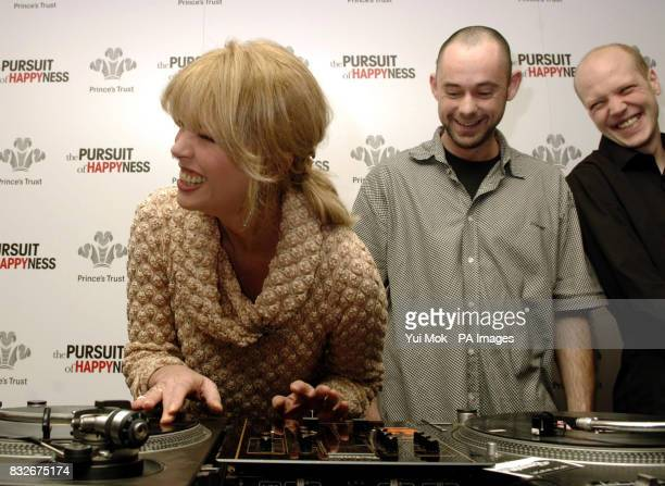 Prince's Trust patron Joanna Lumley meets DJs Adam Gibbs and Paul Everett beneficiaries of the charity during a charity lunch held in association...