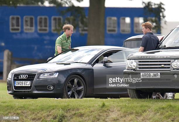 Princes William And Harry With Kate Middleton At The Chakravarty Cup Played At Beaufort Polo Club