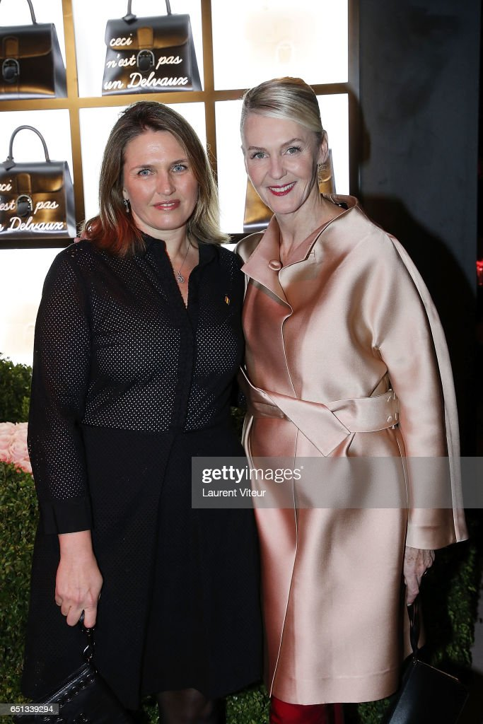 Princess Adelaide D'Orleans and Christina Zeller attend Delvaux Cocktail Paris Fashion Week Womenswear Fall/Winter 2017/2018 at Jardin du Palais Royal on March 5, 2017 in Paris, France.