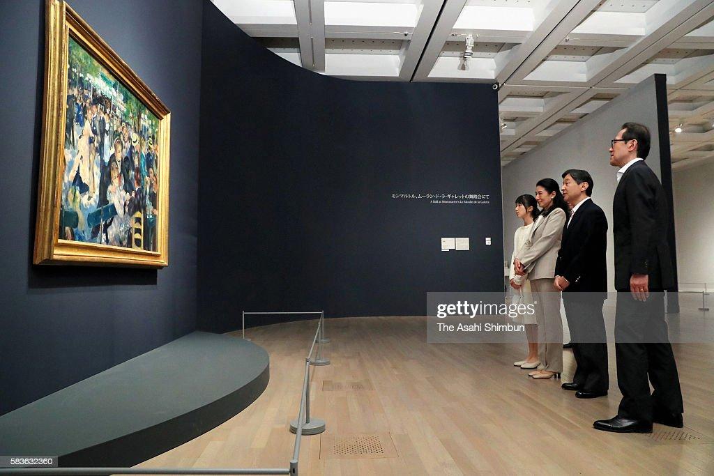 Princess Aiko Crown Princess Masako and Crown Princess Naruhito visit the 'Renoir Masterpieces from the Musee d'Orsay and the Musee de l'Orangerie'...
