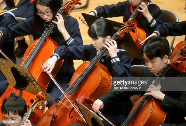Princess Aiko participates in the 'All Gakushuin University Music Concert' at Gakushuin University on April 16 2017 in Tokyo Japan