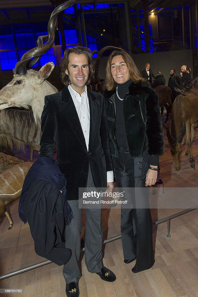 Princess Alessandra Borghese (R) and Pierre Pelegry attend the Berluti Men Autumn / Winter 2013 presentation at the Great Gallery of Evolution in the National Museum of Natural History, as part of Paris Fashion Week on January 18, 2013 in Paris, France.
